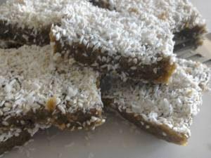 Coconut & Sesame raw fruit bars